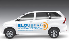 Vehicle Branding in Cape Town for Blouberg Holiday Rentals