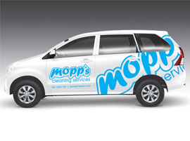 Car Branding for Mopps Cleaning Service in Cape Town