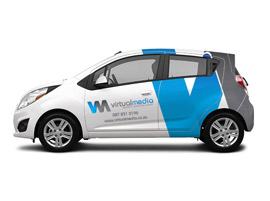 Car Branding Design for Virtual Media
