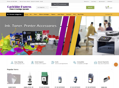 Ecommerce Website Design in Cape Town for Cartridge Express