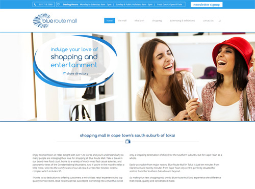 Content Managed Website for Blue Route Mall