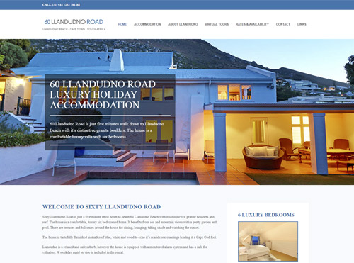Accommodation in LLandudno - Small Business Website Design