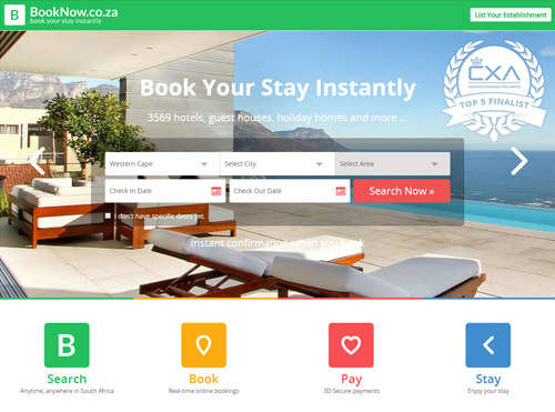 Online Payment for Available Accommodation in Cape Town