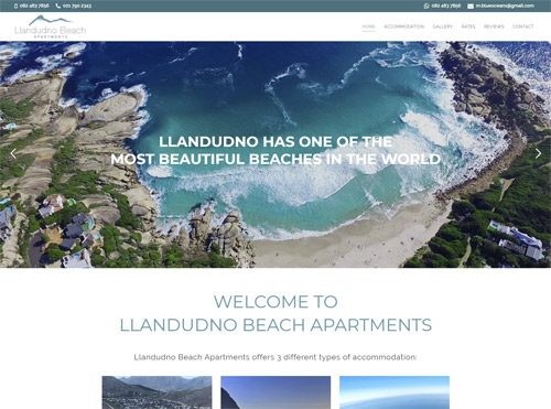 Self Catering Apartment Website Design for Small Business