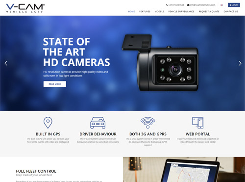 Vehicle CCTV Small Business Website Design