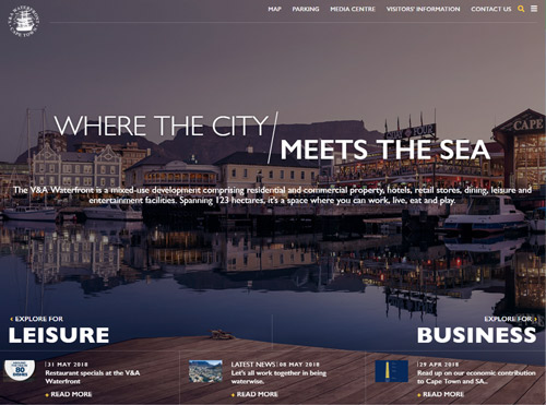 Responsive WordPress Development for the V & A Waterfront